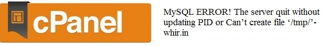 Starting MySQL. ERROR! The server quit without updating PID file 1