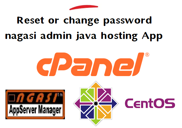 how to reset or how to change password for nagasi admin java hosting application 1