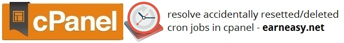 accidentally-resetted-cron jobs-cpanel