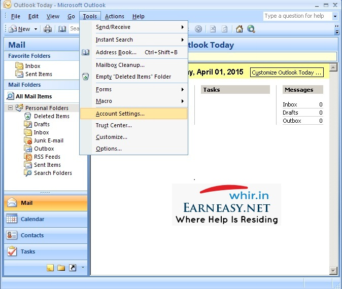 outlook-2007-account-settings