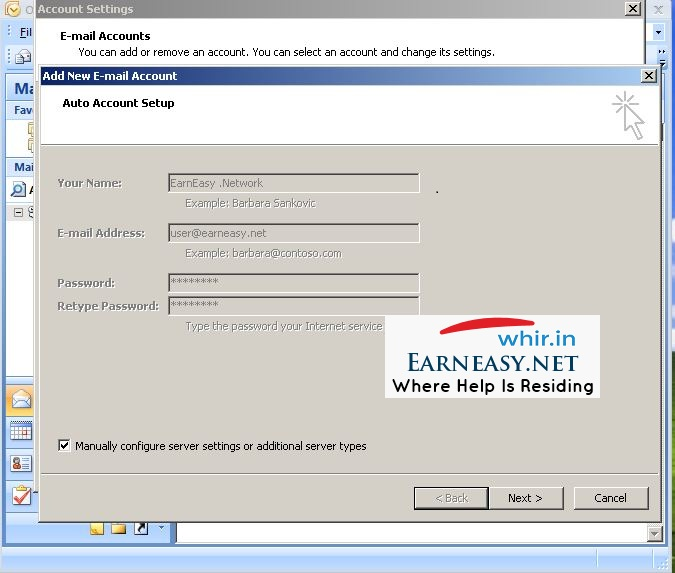how to close an email account on microsoft outlook 2007