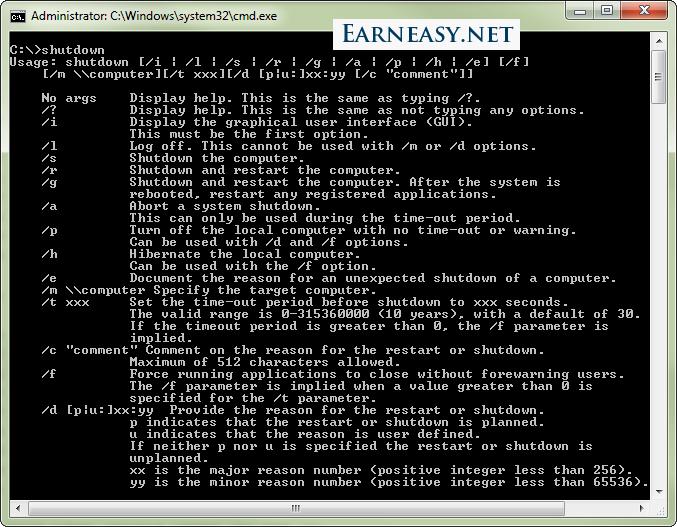 shutdown-cmd-options windows command prompt
